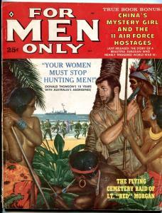 For Men Only October 1959-Tucky Witteck- Red Morgan- Kunstler art VG