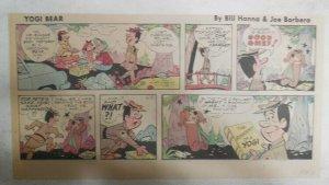 Yogi Bear Sunday Page by Hanna-Barbera from 6/30/1974 Third Page Size !