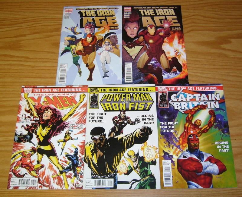 Iron Age #1-3 VF/NM complete series + alpha + omega - iron man - variant set