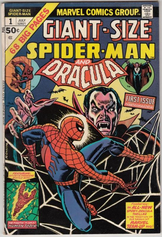 Giant-Size Spider-Man and Dracula #1 (Jul-74) NM- High-Grade Spider-Man