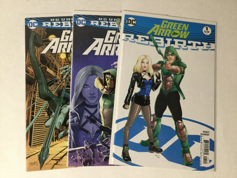Green Arrow 1 With Variant And Rebirth Variant Lot Nm Near Mint Dc