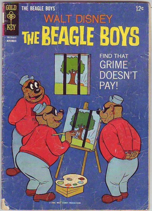 Beagle Boys, Walt Disney's #4 (Nov-66) VG Affordable-Grade Uncle Scrooge