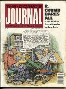 Comics Journal-#121-4/1988Fantagraphics-Robert Crumb interview-art-info-histo...
