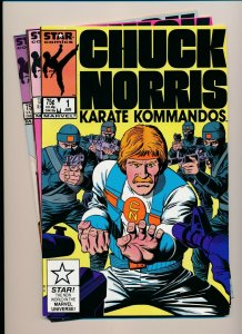 Star Comics Lot of 3-CHUCK NORRIS Karate Kommandos #1-3 F/VF (PF943)