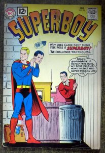 SUPERBOY #94 (DC, 1/1962)  GOOD (G)  Detached Staple.