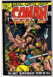 CONAN the BARBARIAN 12, VF, Barry Smith, Robert E Howard, Bernie Wrightson,1970
