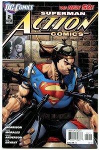 Action Comics volume 2 #2 (VF+) 2011 Grant Morrison Modern Age DC
