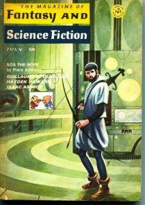 MAGAZINE OF FANTASY AND SCIENCE FICTION-July 1966-Science Fiction Pulp Thrills