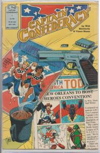 CAPTAIN CONFEDERACY #1 EPIC COMICS - BAGGED & BOARDED NOV 1991 SOUTHERN HERO
