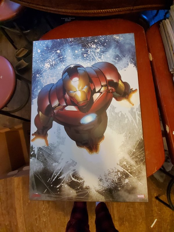 Iron man wooden wall art