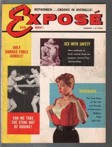Expose For Men 2/1960-cheesecake pix-con men-scandal-VG