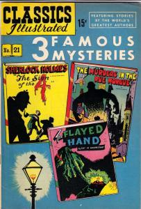 Classics Illustrated #21 (Apr-50) VF/NM+ High-Grade Sherlock Holmes, Doctor W...