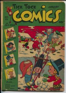 Tick Tock #25 1948-ME-title change-Pixie-Mighty Atom-Tom Tom-VG-