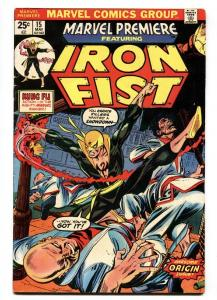 MARVEL PREMIERE #15 First IRON FIST-MARVEL KEY ISSUE FN+