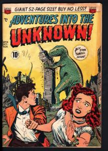 ADVENTURES INTO THE UNKNOWN #13-leoard starr-vampire story-1950-horror