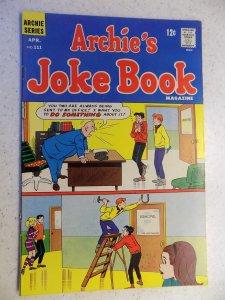 ARCHIE'S JOKE BOOK # 111 ARCHIE JUGHEAD VERONICA BETTY RIVERDALE CARTOON