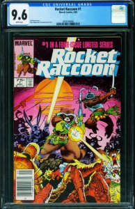 ROCKET RACCOON #1 CGC 9.6 1st ISSUE Newsstand variant 2053538008
