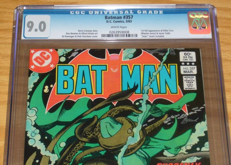 Batman #357 CGC 9.0 killer croc - 1ST JASON TODD - dc comics 1983 suicide squad