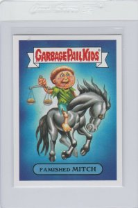 Garbage Pail Kids Famished Mitch 10b GPK 2017 Adam Geddon trading card sticker