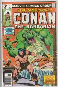 Conan the Barbarian King-Size #5 (Jan-79) NM- High-Grade Conan the Barbarian