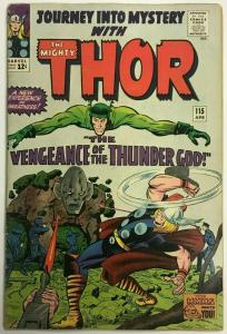 THOR#115 FN+ 1965 (JOURNEY INTO MYSTERY) MARVEL SILVER AGE COMICS