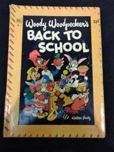 Dell Giant Woody Woodpecker's Back to School #1 GOLDEN AGE 1953 WALTER LANTZ