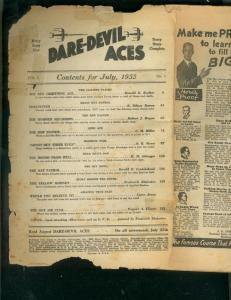DARE-DEVIL ACES PULP-7/1933-BARGAIN-RED FALCON STORY  P