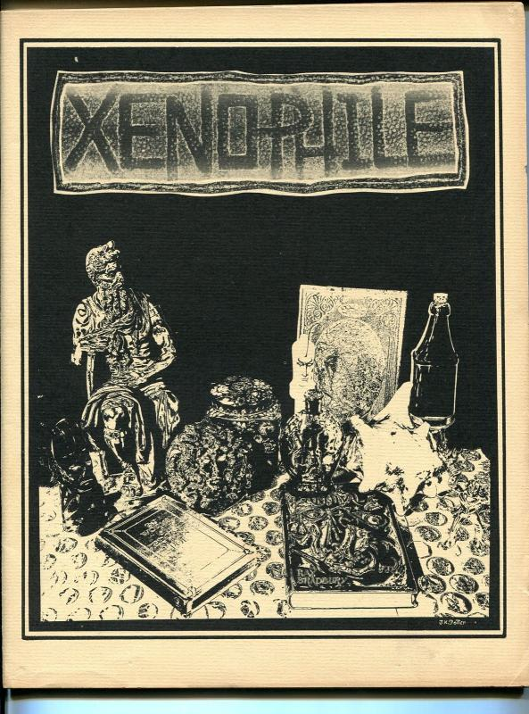 Xenophile #34 1977-top pulp collector fanzine-for sale ads-80 pages-FN-
