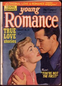 YOUNG ROMANCE #29 JACK KIRBY JOE SIMON ART 1949 RARE G/VG
