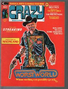 Crazy #5 1974-Marvel-West World-Stan Lee-humor-parody-Billy Jack-FN