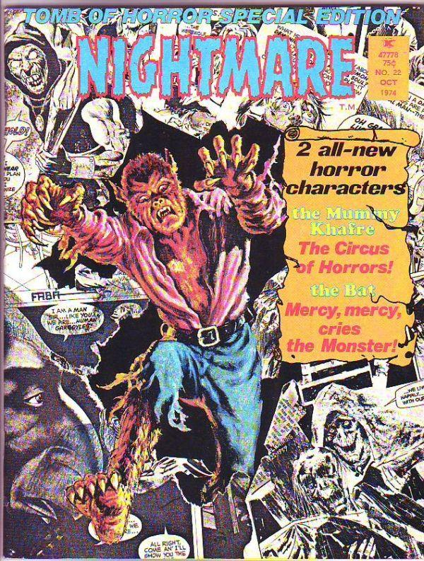 Nightmare Magazine #22 (Oct-74) MT/MT- Super-High-Grade