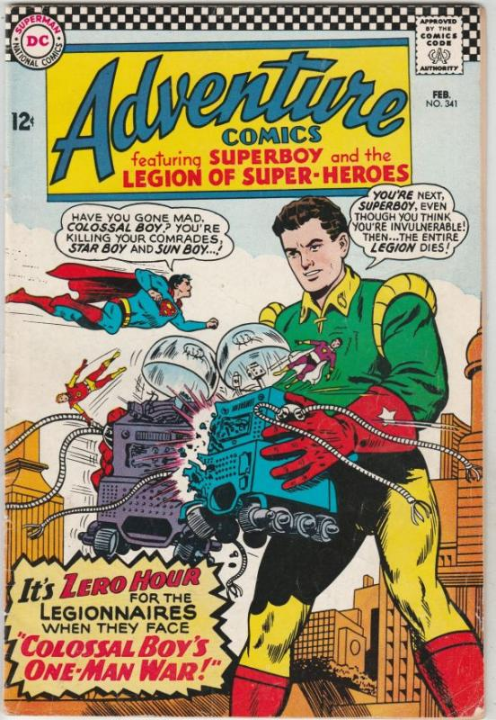 Adventure Comics #341 (Feb-66) FN+ Mid-High-Grade Legion of Super-Heroes, Sup...