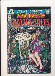 Atlas Comics BLAZING BATTLE TALES ft SGT. HAWK #1 VG/F (SIC246)