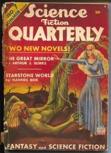 Science Fiction Quarterly #7 Summer 1942-Hannes Bok-John D Musschia-G/VG