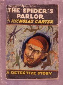 NEW MAGNET LIBRARY-#1316-SPIDERS PARLOR-NICK CARTER FR