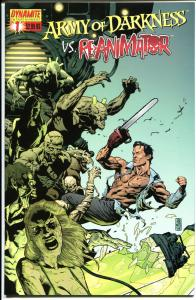 ARMY of DARKNESS vs RE-ANIMATOR #1, NM+, Bruce Campbell, more AOD in store  B