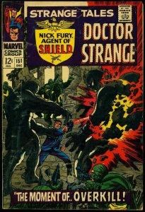 Strange Tales #151 1966- 1st Steranko Marvel work- Dr Strange- Nick Fury G/VG