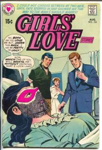 Girls' Love Stories #153-1970-DC-masked woman-love triangle-classic issue-FN-
