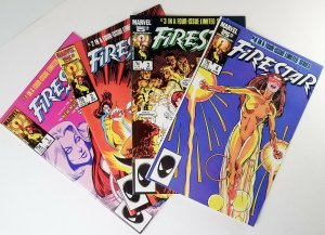 ? Firestar Limited Mini-series 1986 Compete Set 1,2,3 & 4 High Grade Comic