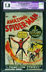 AMAZING SPIDER-MAN #1-1963-CGC 1.8 C-5 1st issue 2061027006