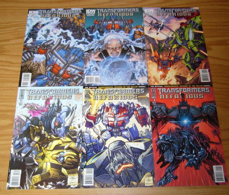 Transformers: Revenge of the Fallen - Nefarious #1-6 VF/NM complete series B set