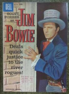 FOUR COLOR COMICS (Dell,4/1958) #893 VG-,stamp on cover Jim Bowie. Photo Cover,