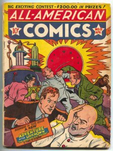 All-American #13 1940- Ultra-Man- 1st Adventure into the Unknown VG-