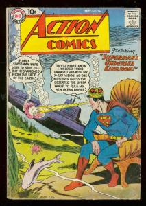 ACTION COMICS #244 1958-DC-SUPERMAN SUBMARINE-SHARK COV G/VG