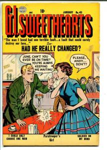 G.I. SWEETHEARTS #43 1955-QUALITY-SODA SHOP-SPICY GOOD GIRL ART-vg+