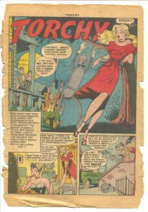 Torchy #1 1949-Quality-1st issue-spicy art-lingerie panels-robot story-lots o...