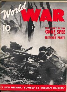 World War #1 1940-Dell-war pulp-Graf Zee-Mata Hari-Zeppelins-1st issue-G