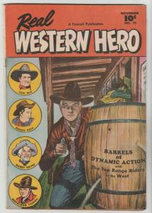 Real Western Hero #72 (Nov-48) FN- Mid-Grade Hopalong Cassidy, Monte Hale, To...