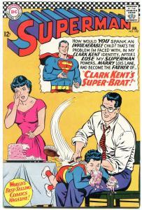 SUPERMAN #192 1967- DC Silver Age- Super-Brat Lois Lane VF