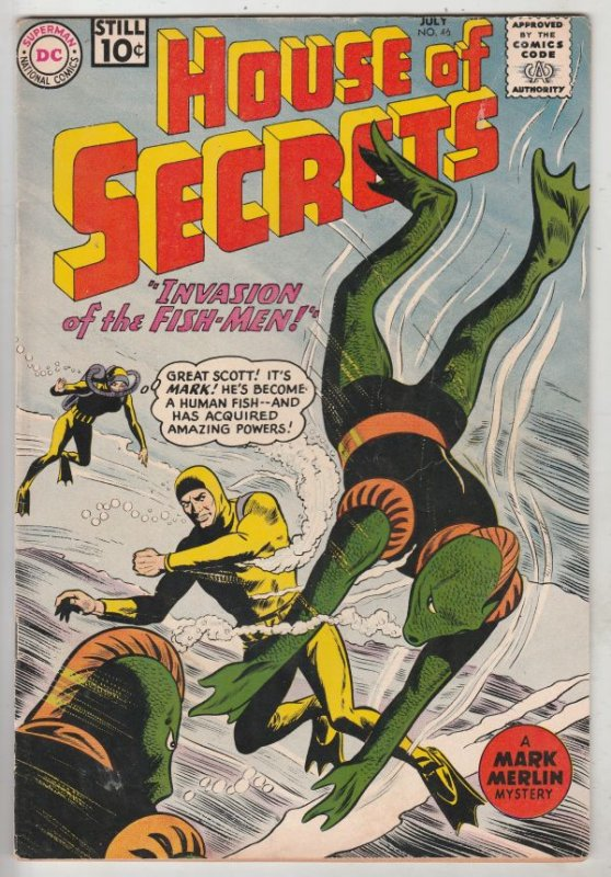 House of Secrets #46 (Jul-61) VF+ High-Grade Mark Merlin